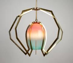zimmerman lighting. Bec Brittain, Vise, Miami Fade Glass And Polished Brass Zimmerman Lighting
