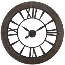 Country Kitchen Wall Clocks Oversized Wall Clocks Youll Love Wayfair