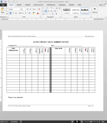 Sales Report Template Sales Summary Report Template 1