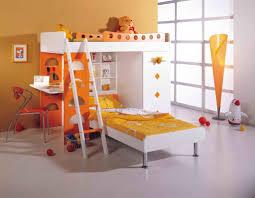 Kids Bedroom Cozy Orange Best Kid Bunk Bed Design And Decoration
