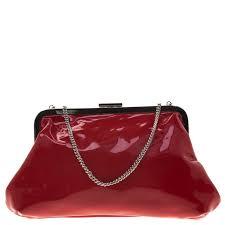 red patent leather chain frame clutch nextprev prevnext