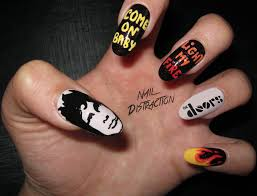 The Doors Come On Baby Light My Fire Nail Art Jim Morrison The Doors Come On Baby Light My