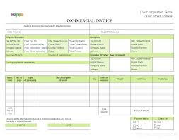 Form For Invoice Commercial Template Sample Complete Incoterms Option