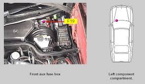 1994 sl500 the heater or a c did not come on is it a fuse graphic
