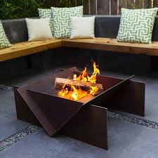 wood burning outdoor fire pits attractive at the home depot punta intended for 18