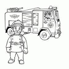 Kleurplaat Brandweerauto