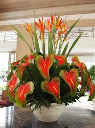 I love the tropical floral arrangements of Hawaii.