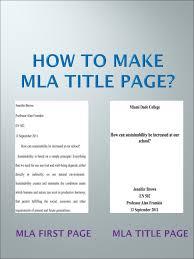Mla Format Title Page Examples Monzaberglauf Verbandcom