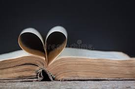 an old book with heart shaped pages stock image image of outline
