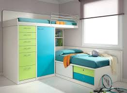 Bedroom Kids Single Bed With Storage White Bunk Beds Double Decker ...