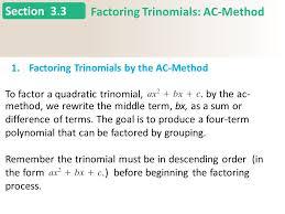 Ac Method 3 3 Homework Questions Ppt Video Online Download