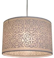 moroccan tile large drum lampshade