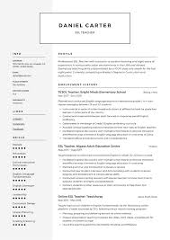 Esl Teacher Resume Sample Writing Guide Resumevikingcom