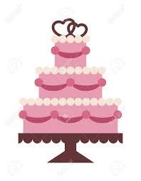 Wedding Cake Isolated On Background Wedding Cake Vector
