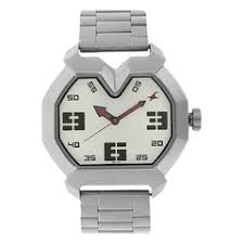 fastrack watches fastrack watches online fastrack silver dial analog watch for men