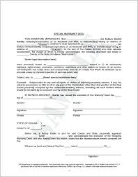 Warranty Deed Form Sample Real Estate Transfer Template Ffshop On ...