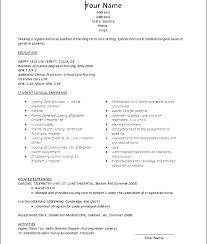 Resume Of A Registered Nurse Admin Linda