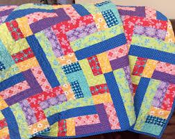 Homemade quilts | Etsy & Modern Lap Quilt, Rainbow Quilt, Handmade Patchwork Blanket, Homemade Quilts  for Sale Adamdwight.com