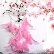Purchase Dream Catchers Pink Flower Dreamcatcher Gift Peach Blossom Handmade Dream Catcher 67