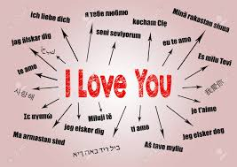 I Love You Concept Chart With Text In Different Languages Communication