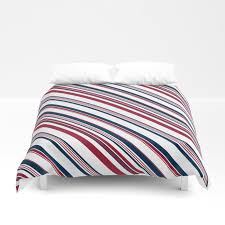 red and blue stripes duvet cover