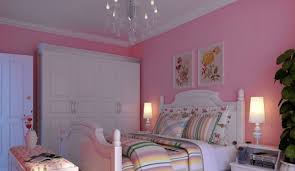 room with white furniture. Korean Rural Style Pink Bedroom With White Furniture Room
