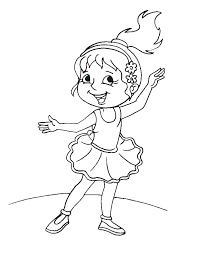 Dance Coloring Page Group Of Young Ballet Dancers Coloring Page