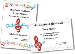 certificates of completion for kids music certificate templates