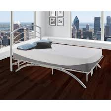 platform bed frame with headboard. Fine Headboard Rest Rite Dome Arch Silver King Metal Platform Bed Frame And HeadboardHD2108EK   The Home Depot And With Headboard