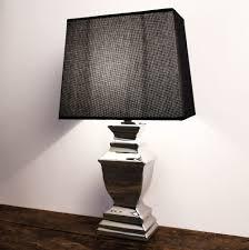 Stehlampe Tischleuchte Keramik Silver Platet Silber Lampe Shabby ...