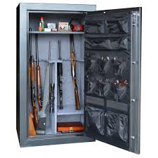 Woodmark Gun Cabinet Buffalo 38 Gun 156 Cu Ft Electric Lock Gun Safe With Premium