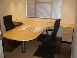 office table design ideas. Image Of: T Shaped Desk With Hutch Office Table Design Ideas