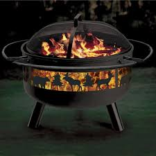 big game solid steel fire pit grill combo