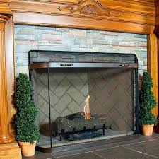 pilgrim burnished bronze spark guard 44 x 33 burnished bronze fireplace screen