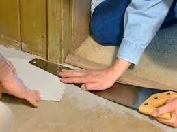 flooring needs to fit under door frame