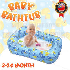 baby inflatable bath tub padded space safe comfortable mini pool duck