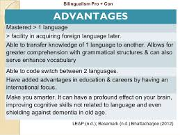 bilingual essay the benefit of being bilingual education essay