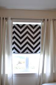Chevron Roller Blind, installed Paint on a vinyl roller blind - will do in  large