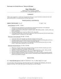 resume for restaurant best restaurant experience resume restaurant experience resume
