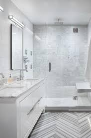 modern bathroom floor tiles. Beautiful Bathroom Gray Marble Chevron Floor Tiles With White Lacquer Vanity In Modern Bathroom R