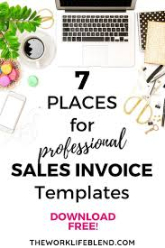 Free Sales Invoice 7 Places To Download Free Professional Sales Invoice