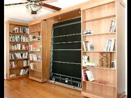 sliding bookcase murphy bed. Delighful Bookcase Smart Spaces Library Bed Throughout Sliding Bookcase Murphy E