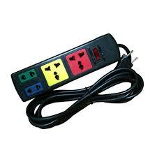 Ổ cắm điện LIOA, 4 lỗ, có công tắc, ~2200W, dây dài 3m/5m, mã: 2D2S - Ổ cắm  điện Hãng LiOA