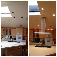 Long Metal Kitchen Island Vent Hood Combined Light Brown Wooden - Vent hoods for kitchens