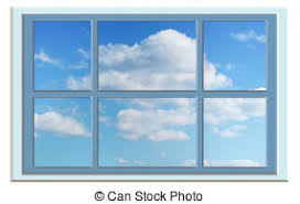 closed window clipart. perfect blue sky through the window - cloudy blueclosed clipart