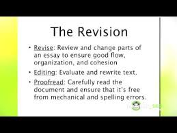 essay writing first draft revisions and proofreading