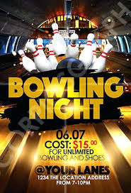 Bowling Event Flyer Template Bowling Flyer Template Free Choice Image Design Download