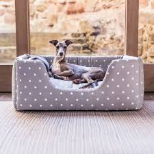 luxury dog beds. Charley Chau Deep Sided Dog Bed In Cotton Luxury Beds