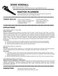 Sample Plumbing Cover Letter Plumbers Jobs Cover Letter For Plumber Job Resumes Career