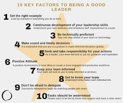 How To Be A Good Team Leader At Work 10 Key Factors Of Being A Good Leader Collingwood
